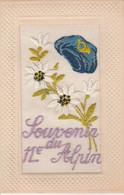 CPA BRODEE 04 BARCELONNETTE  SOUVENIR 11e CHASSEUR ALPIN - Regiments
