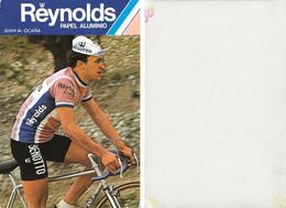 CARTE CYCLISME JUAN M. OCAÑA TEAM REYNOLDS 1980 1ª SERIE ( DECOUPE, FORMAT 10 X 14,8 ) - Radsport