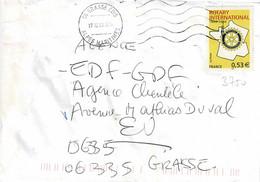 TP N° 3750 Seul Sur Enveloppe De Grasse - 1961-....