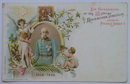 14 Franz Joseph Josef I Kaiser 50 Years Coronation Aniversary 1848-1898 - Case Reali