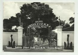 TARANTO - INGRESSO SCUOLE C.E.M.M. LORENZO BEZZI  - VIAGGIATA FG - Taranto