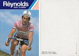 CARTE CYCLISME ANGEL LOPEZ DEL ALAMO TEAM REYNOLDS 1980 2ª SERIE - Radsport