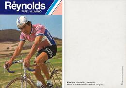 CARTE CYCLISME HECTOR RONDAN TEAM REYNOLDS 1980 2ª SERIE - Radsport