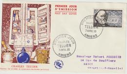 FDC FRANCE N° Yvert 1056 (TELLIER) Obl Sp 1er Jour (Devant De FDC) - 1950-1959