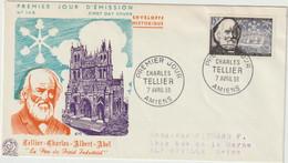 FDC FRANCE N° Yvert 1056 (TELLIER) Obl Sp 1er Jour Amiens - 1950-1959
