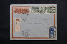 A.E.F. - Enveloppe En Recommandé De Brazzaville Pour Paris En 1938 Par Avion - L 73031 - Covers & Documents