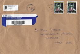Comores Comoros 2020 Moroni Red Orchid Registered Cover - Comoren (1975-...)