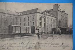 La Louvière1903: Le Moulin Dambo Très Animée Avec Wagons, Attelages - La Louvière