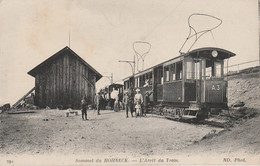 B7- 88) SOMMET DU HOHNECK -  L'ARRET DU TRAIN - (TRES GROS PLAN ANIMEE - VOYAGEURS  - 2 SCANS) - Frankreich