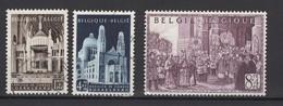 Belgique: 1952. COB : 876/78 (pli Dans Le 78), Oblitéré(s). - Used Stamps