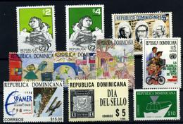 República Dominicana Nº 1201/3, 1228A/D, 1235, 1238, 1241. Año 1996 - Dominicaine (République)