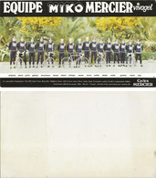 CARTE CYCLISME GROUPE TEAM MIKO - MERCIER 1980 FORMAT 10 X 18 - Radsport