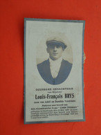 Matroos Louis Brys Geboren Te Oostende 1908  En Overleden Aan Boord Van Schip Den Stoomtrawier 1927   (2scans) - Godsdienst & Esoterisme