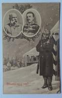 25 Franz Joseph Josef I Kaiser 1914 Emperor Soldier Happy New Year Snow - Case Reali
