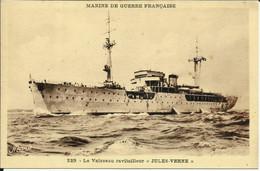 """Marine De Guerre Française , Le Vaisseau Ravitailleur """" Jules Verne """" - Krieg"""