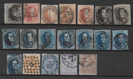 BELGIQUE - PETIT LOT De CLASSIQUES TOUS ETATS (SOUVENT B/TB) - BELLES NUANCES - A ETUDIER - 1849-1850 Medallions (3/5)