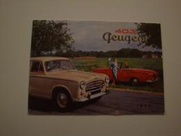 Automobilia,,plaquette Publicitaire Originale Pour La PEUGEOT Modèle 403,berline Grand Luxe,cabriolet,familiale - Automovilismo