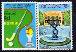 Pakistan 1978 Riccione '78 International Stamp Fair Hockey Set Of 2, MNH, SG 459/60 (E) - Pakistán