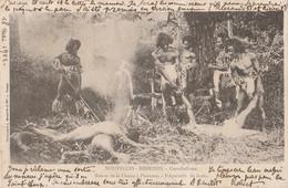 NOUVELLES HEBRIDES - CANNIBALISME RETOUR DE LA CHASSE A L HOMME PREPARATIFS DU FESTIN - (OBLITERATION DE 1901 -2 SCANS) - Vanuatu