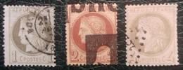 Numéros 50, 51, 52, Oblitérés, Pas D'aminci. - 1871-1875 Cérès