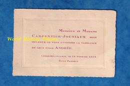 Carte Ancienne De 1932 - LOMME DELIVRANDE - Faire Part De Naissance D' Andrée CARPENTIER JOUNIAUX - école Pasteur - Nacimiento & Bautizo