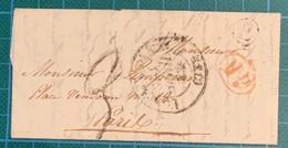 Seine Et Marne - HERICY - Lettre De 1838 - BR E (HERICY) Du CHATELET EN BRIE - 1801-1848: Voorlopers XIX