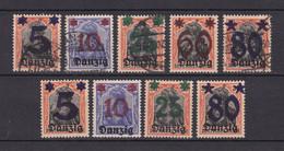 Danzig - 1920 - Michel Nr. 16/20 - Gestempelt/Ungebr. - Danzig