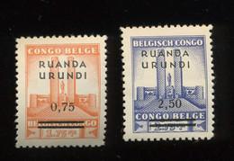 124-125 **. Postfris. Cote  30,00 €. Parfait - 1924-44: Mint/hinged