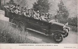 I17- 88) PLOMBIERES LES BAINS (VOSGES) AUTOCAR DE LA MAISON F. DUVAL - (AUTOCAR BERLIET - TRES ANIMEE - 2 SCANS) - Plombieres Les Bains