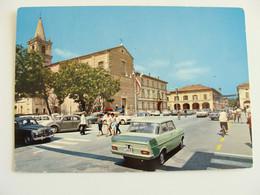 CERVIA (RA) - PIAZZA GARIBALDI E DUOMO  AUTO  CAR  RAVENNA  - EMILIA ROMAGNA -   VIAGGIATA COME DA FOTO  * - Ravenna