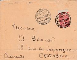 SEMEUSE SUR LETTRE DE MULHOUSE 2 GARE 1927 - 1921-1960: Moderne