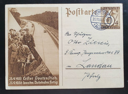 """Deutsches Reich 1936, Postkarte P263 """"Spatenstich"""" KEMPTEN(ALLGÄU) - Covers & Documents"""