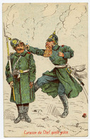 1914-18. Armée Allemande. Violence D'officier Sur Homme De Troupe. Propagande Anti Allemande. - Humor