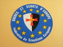 Autocollant,Sticker, Guides Et SCOUTS D'Europe. Fédération Du Scoutisme Européen (280 P12) - Pegatinas