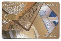CUBA, Used Chip Phonecard, In Perfect Condition. Escalera Interior, # Cuba-28 - Cuba