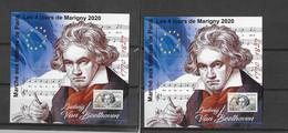 """France - 2020 - Marigny -bloc Feuillet - """" Beethoven"""" - Souvenir Blocks"""