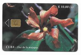 CUBA, Used Chip Phonecard, In Perfect Condition. Flor De Majagua, # Cuba-37 - Cuba