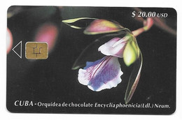 CUBA, Used Chip Phonecard, In Perfect Condition. Orquídea De Chocolate, # Cuba-38 - Cuba