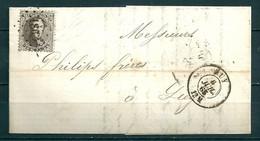 Nr 14 Op Brief Van Huy Naar Liege - 6 Juil 1865 - 1863-1864 Medaillons (13/16)