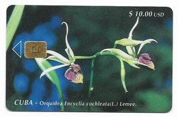 CUBA, Used Chip Phonecard, In Perfect Condition. Orquídea Encyclia, # Cuba-40 - Cuba