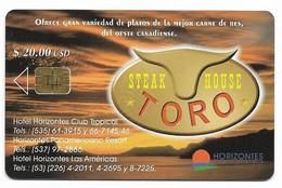 CUBA, Used Chip Phonecard, In Perfect Condition. Steak House Toro, # Cuba-55 - Cuba