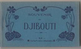 DJIBOUTI - SOUVENIR - CARNET COMPLET DE 24 CPA - EDITEUR GRANDS COMPTOIRS FRANCAIS - BERTRAND & Cie - 4 SCANS - Dschibuti