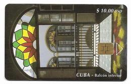 CUBA, Used Chip Phonecard, In Perfect Condition. Balcón Interior, # Cuba-57 - Cuba