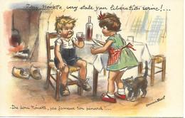 """CPA GERMAINE BOURET """" Dis Donc Nénette Pas Fameux Ton Pinard """"  EDITION EAEC - Bouret, Germaine"""