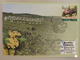2020 , MOLDOVA ,  MOLDAVIE ,  MOLDAU  ,  National Wine Day , Vine , Vino , Special Cancell, Personalised Stamp - Wein & Alkohol