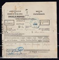 Bestuur Van Staatsspoorwegen Met Hexagonstempel Farciennes 11 Mai 1889 - Fragments & Covers
