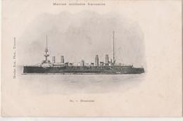Z9-  MARINE MILITAIRE FRANCAISE -  MONTCALM - (EDITEUR MARIS BAR , TOULON - 2 SCANS) - Krieg