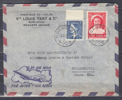 Brief Van Roeselare B Naar Philadelphia Penna USA - Cartas