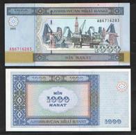 АЗЕРБАЙДЖАН  1000 МАНАТ    2001 UNC - Arzerbaiyán