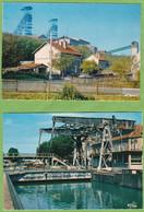 2 Belles CPSM MONTCEAU Les Mines Puits De Mine De Darcy + Pont Levant 71 Saone Et Loire - Montceau Les Mines